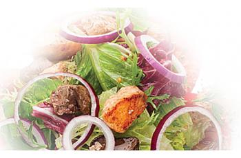 Теплый салат «Земля Море»